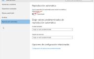 Desactivar reproducción automática en Windows 10